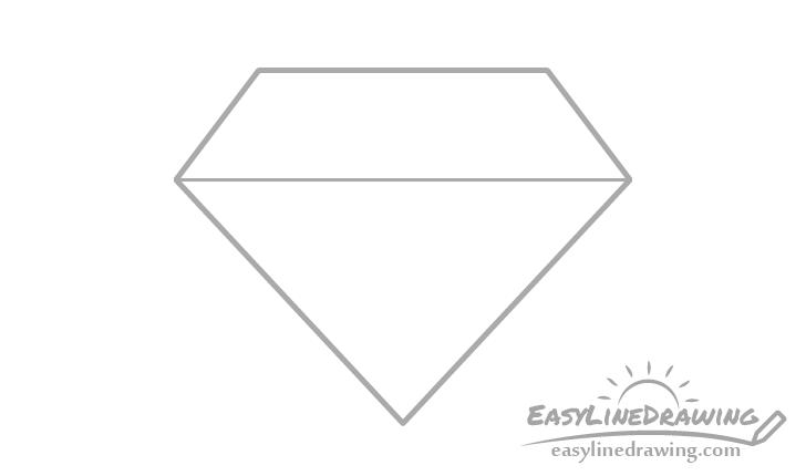 Diamond horizontal edges drawing