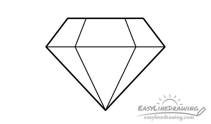 Diamond line drawing