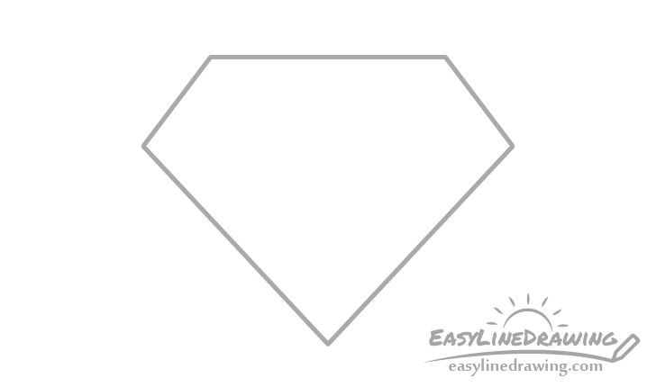 Diamond outline drawing