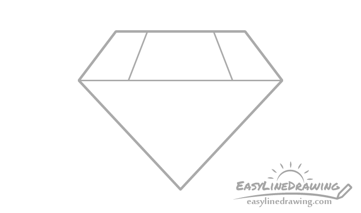 Diamond top edges drawing