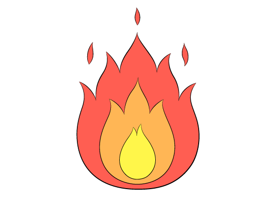 Fire drawing tutorial