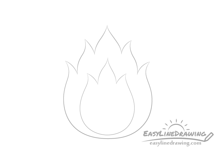 Fire inner flames drawing