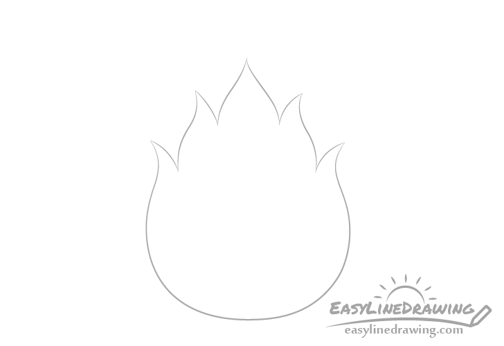 Fire outline drawing