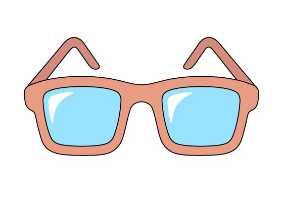 Glasses drawing tutorial