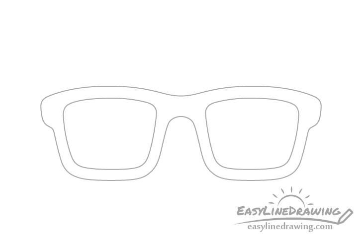 Glasses lenses drawing