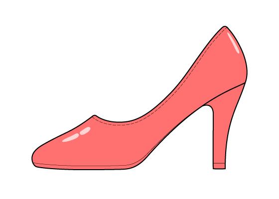 High heel shoe drawing tutorial