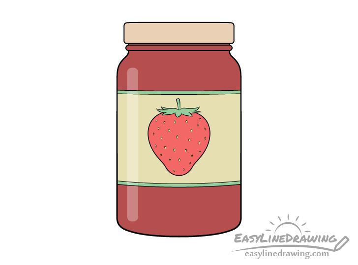Jar of jam drawing