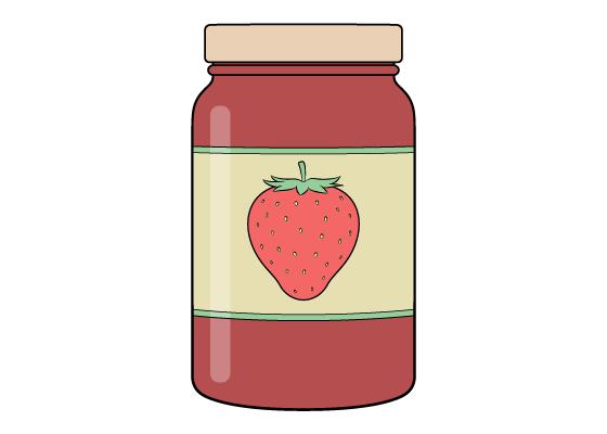 Jar of jam drawing tutorial
