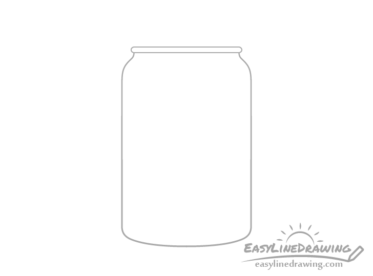 Jar of jam neck ring drawing