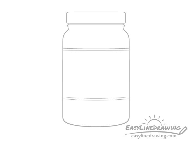 Jar of jam label drawing