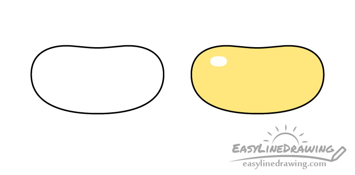 Jelly bean drawing step by step