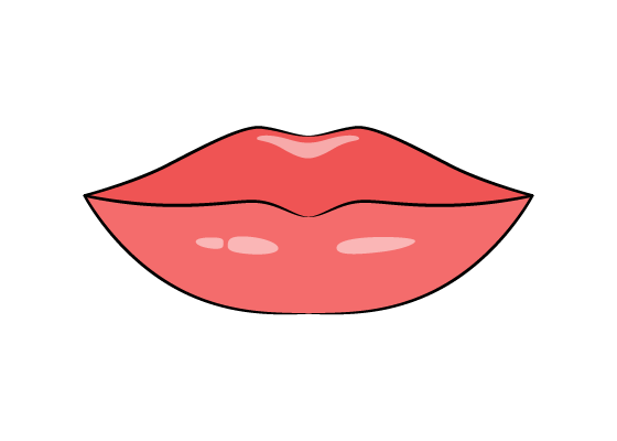 Lips drawing tutorial
