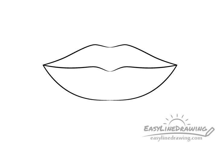 Lips line drawing