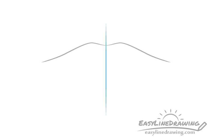 Lips outline drawing with centerline