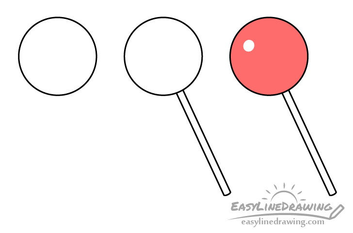 Lollipop drawing step by step