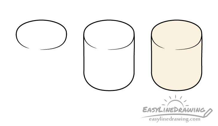 Marshmallow drawing step by step
