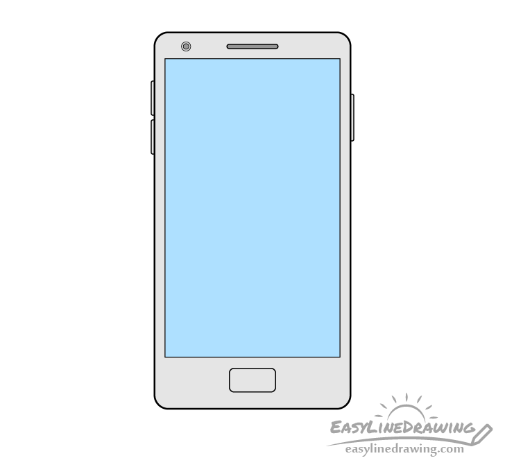 Mobile phone drawing