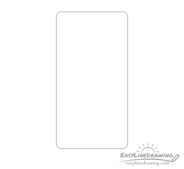 Mobile phone outline drawing
