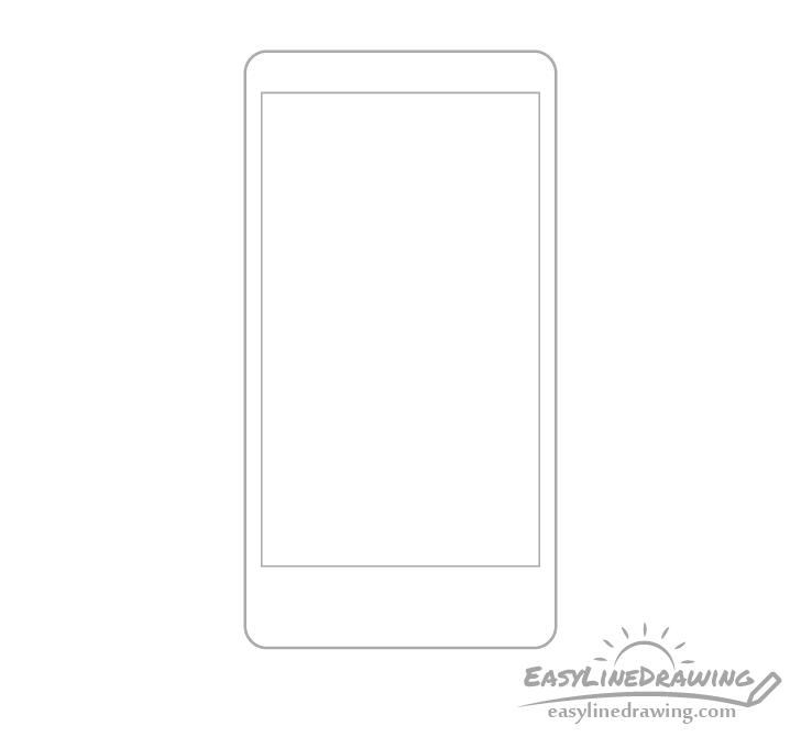 Mobile phone screen drawing