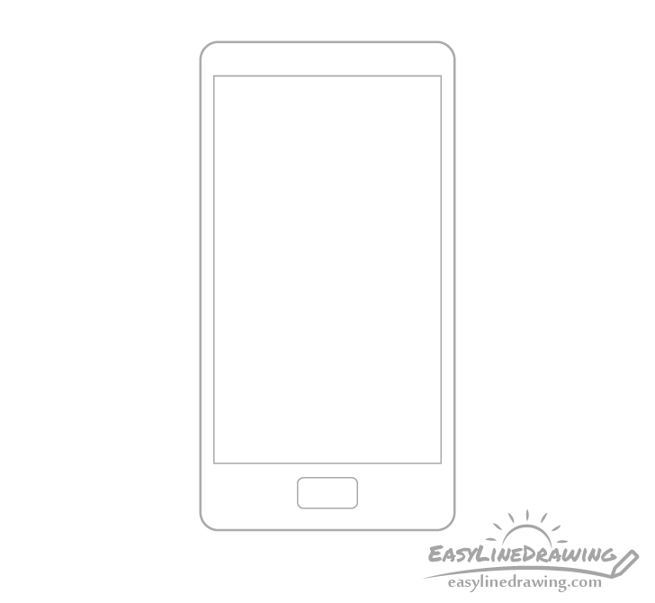 Mobile phone button drawing