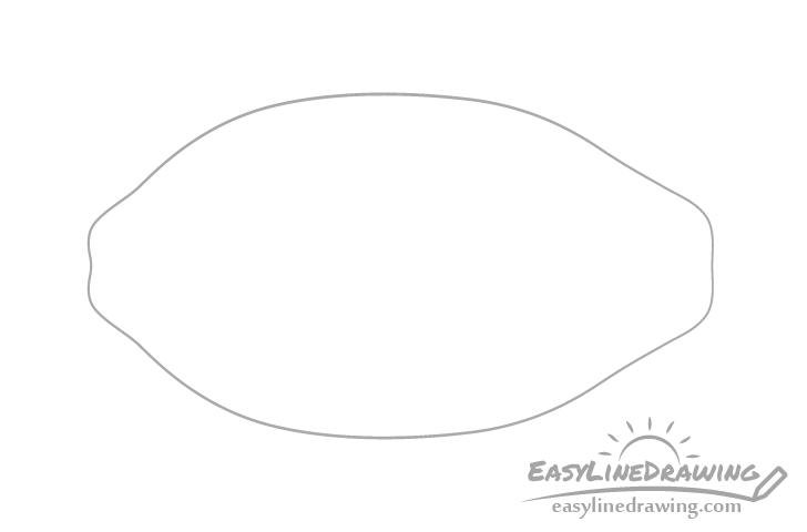 Papaya outline drawing