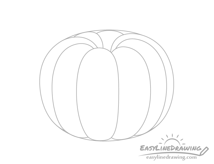 Pumpkin back ribs drawing