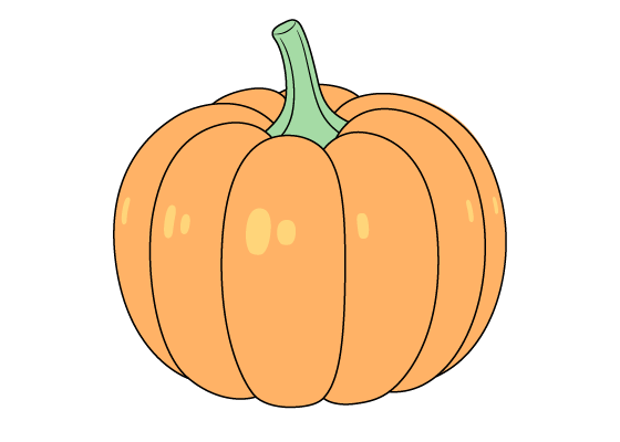 Pumpkin drawing tutorial