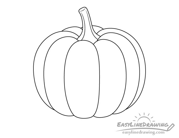 Pumpkin line drawing