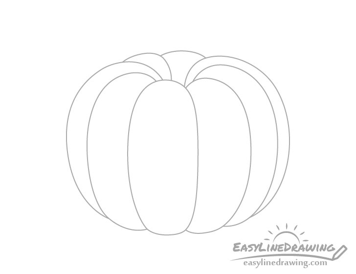 Pumpkin outline drawing