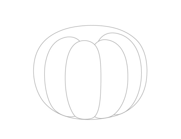 Pumpkin ribs drawing