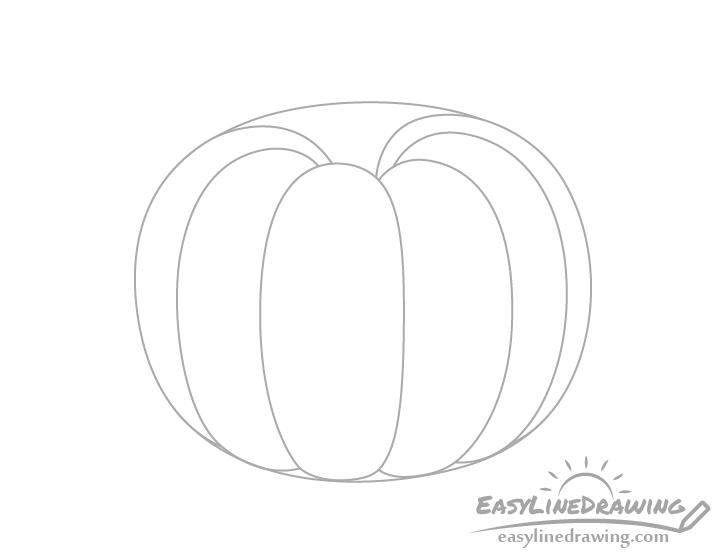 Pumpkin side ribs drawing