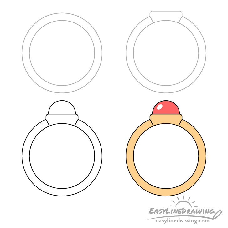 Ring drawing step by step