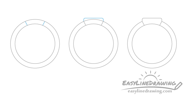 Ring head drawing step by step