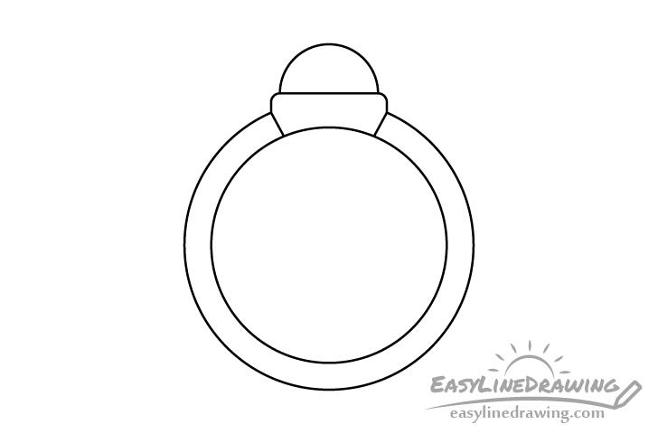 Ring line drawing