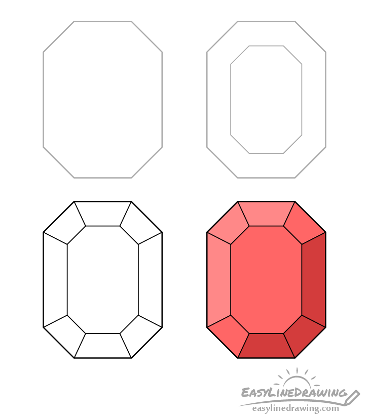 Ruby drawing step by step