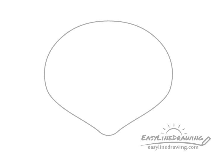Scallop shell outline drawing