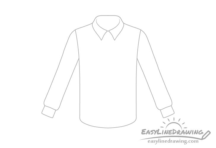 Shirt cuffs drawing
