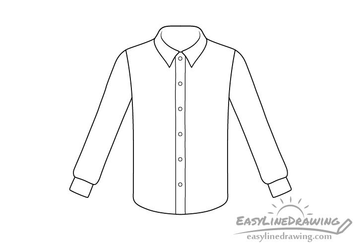 Shirt line drawing