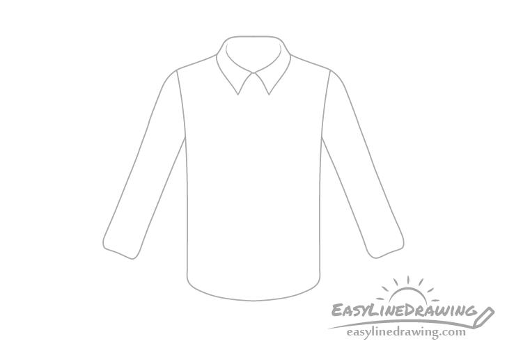 Shirt sleeves drawing