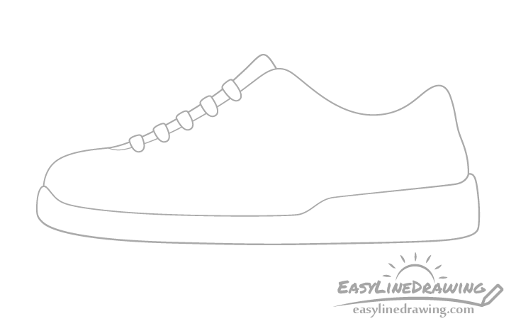 Shoe laces drawing