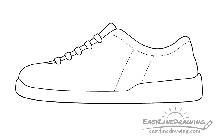 Shoe line drawing