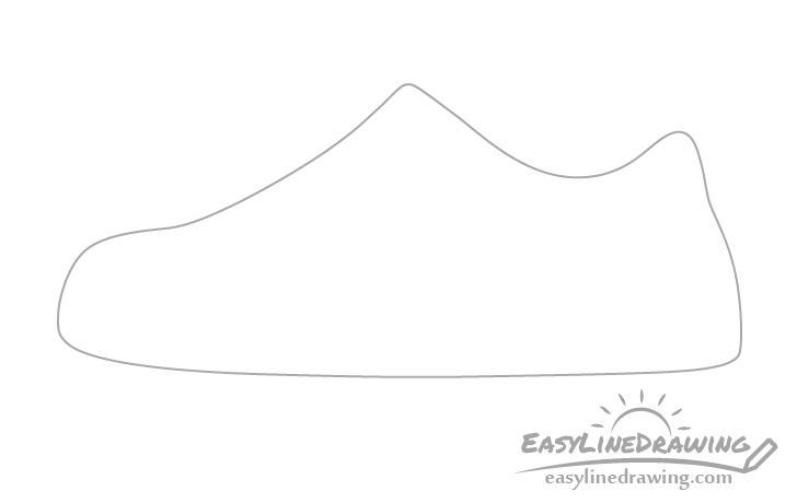 Shoe outline drawing