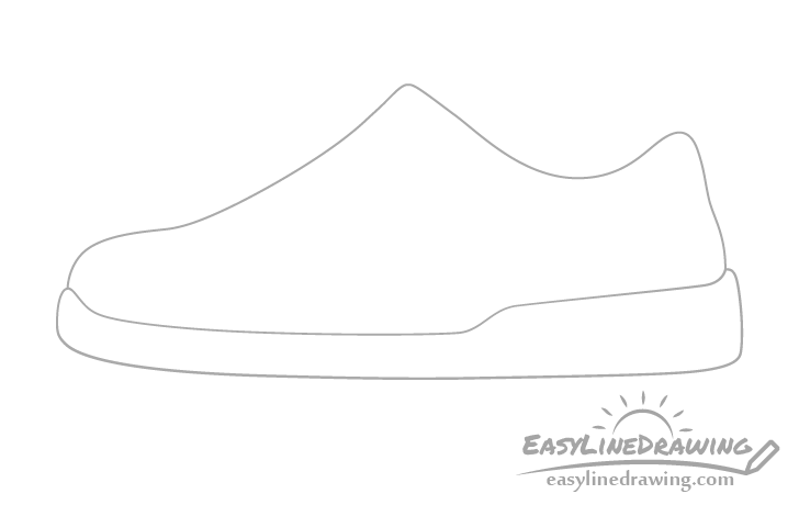 Shoe sole drawing