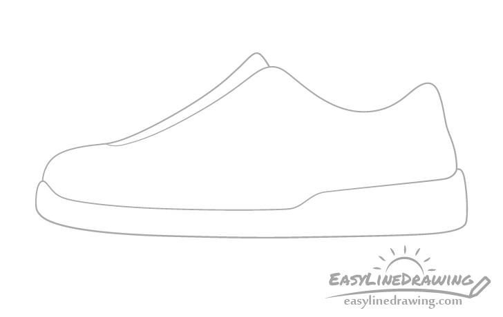 Shoe tongue drawing