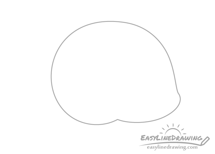 Snail shell outline drawing