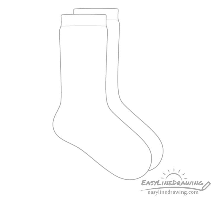 Socks cuffs drawing
