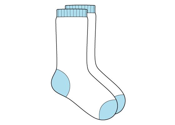 Socks drawing tutorial