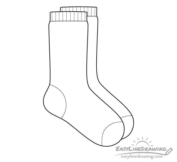 Socks line drawing