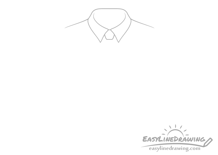 Tie knot drawing