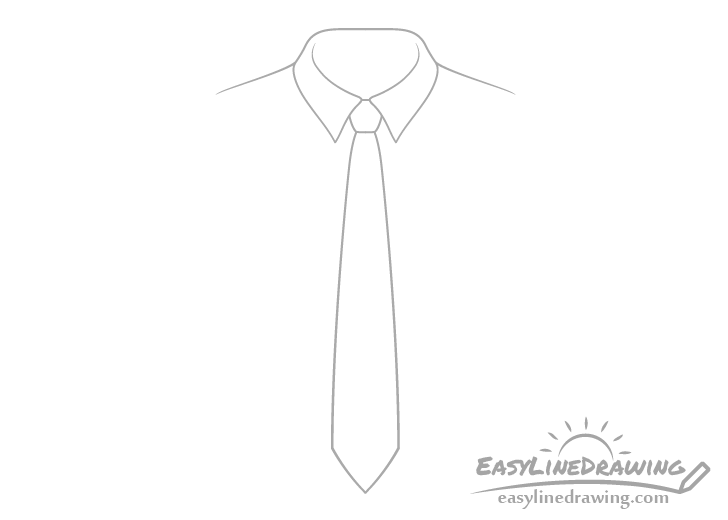 Tie outline drawing